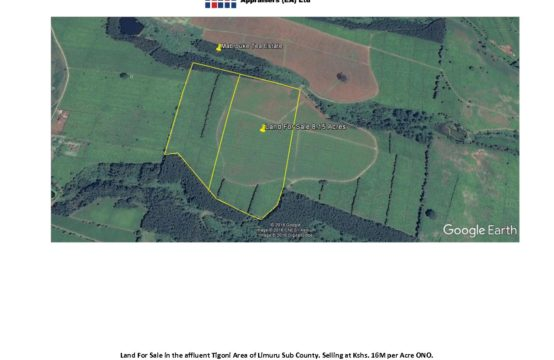 26 Acres Land for sale in Tigoni