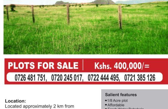 1/4  plots  off Kangundo road